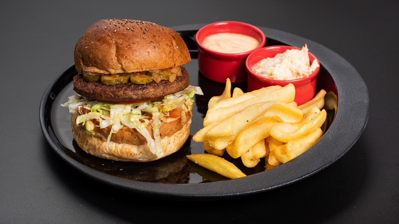 Fitt Vegan burger menu